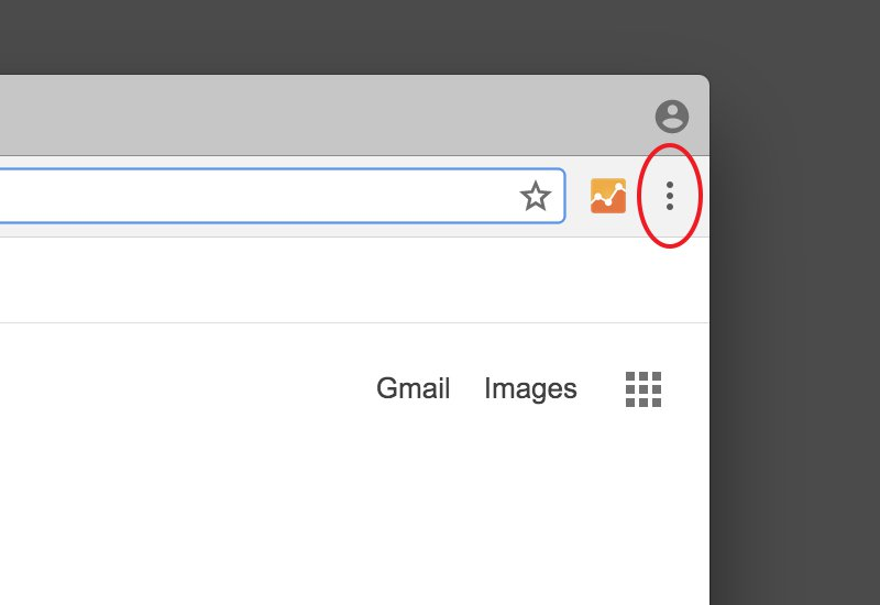 Step 1: Click on the 'Menu' icon – three horizontal bars in the right hand corner of the browser