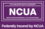 Advia Credit Union is backed by the NCUA